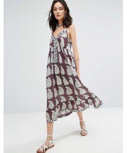 Raga | Платье Макси С Принтом Пейсли Delilah Enlarged