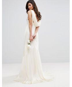 Asos | Платье Макси С Драпировкой На Спине Bridal