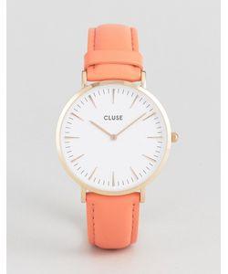 Cluse   Часы С Кожаным Ремешком Кораллового Цвета La Boheme