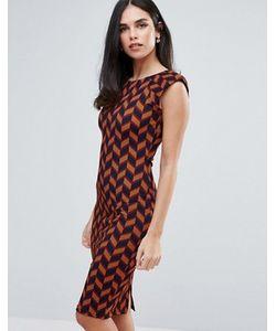 AX Paris | Цельнокройное Платье С Высоким Воротом