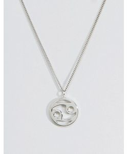 Fashionology   Серебряное Ожерелье Со Знаком Зодиака Рак