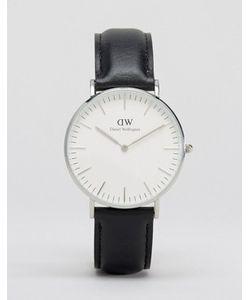 Daniel Wellington | Черные Классические Большие Часы С Серебристой Отделкой Sheffield