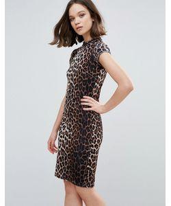 ICHI | Облегающее Платье С Леопардовым Принтом