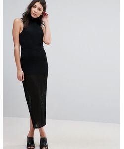 Unique 21 | Прозрачное Платье С Высокой Горловиной И Короткой Подкладкой