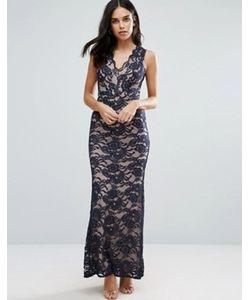 Jessica Wright | Кружевное Платье Макси С Юбкой Годе