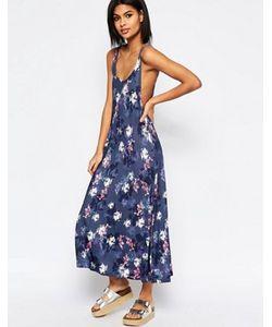 Asos | Свободное Платье Макси С Цветочным Принтом