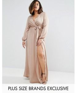 Missguided Plus | Платье Макси С Запахом