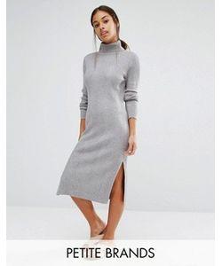 Vero Moda Petite | Платье Миди С Отворачивающимся Воротником