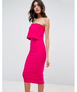 Asos | Облегающее Платье Миди С Кроп-Топом