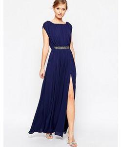 Asos | Платье Макси С Отделкой На Талии