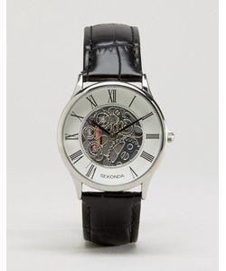 Sekonda | Часы С Черным Кожаным Ремешком И Открытым Механизмом Эксклюзивно Для