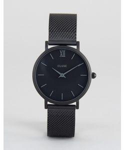 Cluse | Черные Часы С Сетчатым Ремешком Minuit