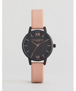 Olivia Burton | Часы С Черным Циферблатом И Розовым Кожаным Ремешком After