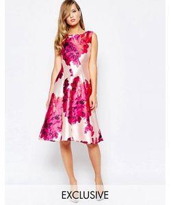 True Violet | Приталенное Платье С Ярким Цветочным Принтом