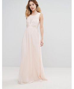 Club L | Платье Макси С Вышивкой Из Роз Для Подружки Невесты