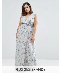 Koko | Платье Макси С Запахом И Цветочным Принтом Plus