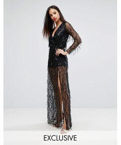 Club L | Платье Макси С Глубоким Вырезом И Пайетками