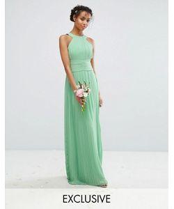 TFNC | Плиссированное Платье Макси С Высокой Горловиной Wedding