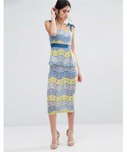 Traffic People | Платье Миди Из Разноцветного Кружева Fab