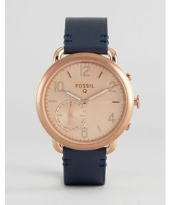 Fossil | Q Navy Leather Tailor Smart Watch
