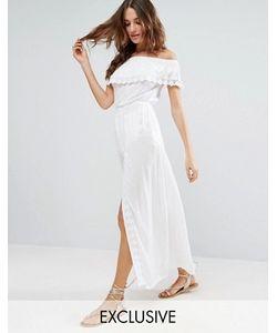 Akasa | Пляжное Платье С Открытыми Плечами И Оборкой