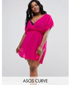 ASOS CURVE | Mini Chiffon Beach Cover Up With Self Belt