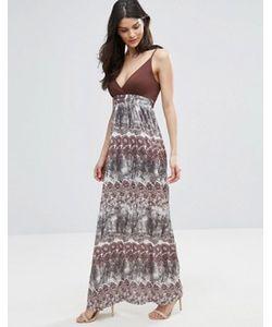 Jasmine | Платье Макси С Деревьями