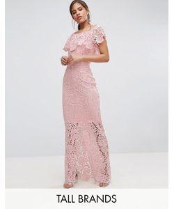 Paper Dolls Tall | Кружевное Платье Макси С Открытыми Плечами И Оборкой