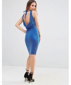 Jessica Wright   Платье С Блестками И Завязкой Сзади