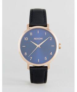Nixon | Часы С Черным Кожаным Ремешком Arrow