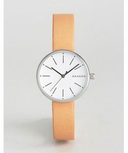 Skagen | Часы Со Светло-Коричневым Кожаным Ремешком Signatur