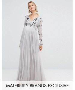 Maya Maternity | Платье Макси С Отделкой На Лифе И Тюлевой Юбкой