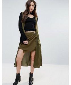 d.Ra   Легкое Пальто Без Рукавов В Стиле Милитари Clarisse