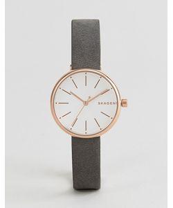 Skagen | Часы С Черным Кожаным Ремешком Skw2644 Signatur