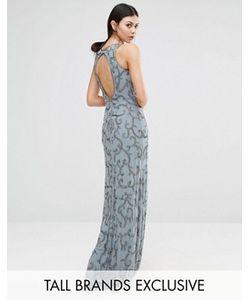 Maya Tall | Платье Макси С Пайетками И Вырезом На Спинке