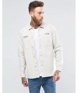 Asos | Рубашка Навыпуск В Стиле Милитари С Нашивкой