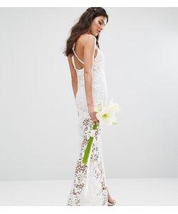 Body Frock | Кружевное Платье Макси С Перекрестными Бретельками На Спине Bodyfrock Bridal