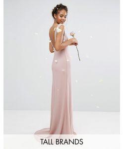 TFNC Tall | Платье Макси С Открытой Спиной И Отделкой Wedding