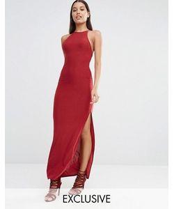 Club L | Платье Макси С Бретелями Накрест На Спинке