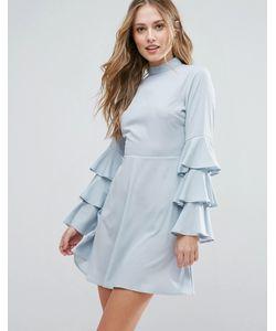 Influence | Платье С Высокой Горловиной И Оборками На Рукавах