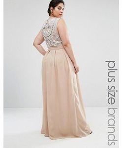Lovedrobe Luxe | Платье Макси С Декоративной Отделкой Сзади