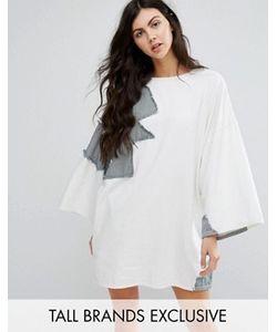 Waven Tall | Джинсовое Платье В Стиле Пэтчворк