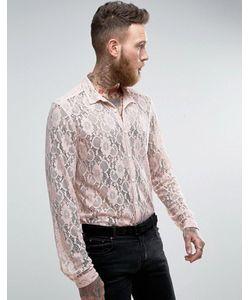 Asos | Кружевная Рубашка Классического Кроя