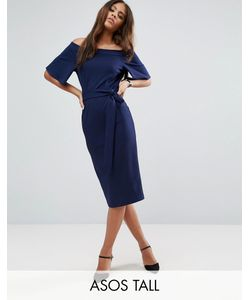 ASOS TALL | Платье Миди С Открытыми Плечами И Завязкой