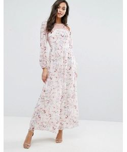Miss Selfridge | Платье Макси С Кружевом И Цветочным Принтом