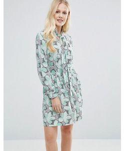 Closet London | Платье С Цветочным Принтом И Завязкой На Бант Closet