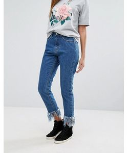 MISSGUIDED | Riot High Waisted Fray Hem Jean