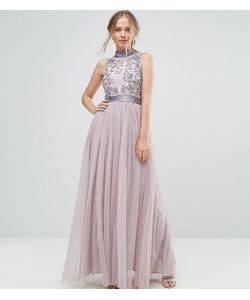 Amelia Rose | Платье Макси С Тюлевой Юбкой