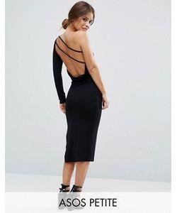 ASOS PETITE | Платье Миди На Одно Плечо С Драпировкой На Спине