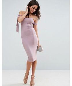 Asos | Платье Миди С Открытыми Плечами